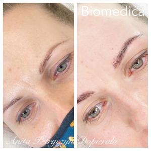 Makijaż permanentny brwi dla brunetki Zielona Góra