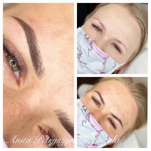 Makijaż permanentny brwi dla blondynki